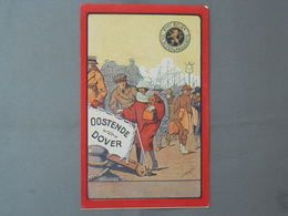Postal Stationery, Boat, Line Oostende-Dover, Paquebot - Schiffe