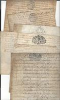 6 PARCHEMINS  Timbre Généralité Orléans Même Archive 1717 - 1762 ( Dont Juridiction Duc D'Orléans ) - Manuscripts