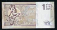 1 Euro, Typ B 2 = Langes Bull-Horn, Entwurf, Test Note, RRRR, UNC,  Ca. 115 X 58 Mm, Essay, Trial - EURO