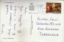Postcard Monaco - ATM And Stamp Motive 2002 Royal Palace - Lettres & Documents