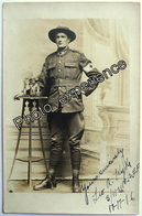 CPA Carte Photo Guerre 14-18 Militaire Néo Zélandais ANZAC New Zealand Military WW1 - War 1914-18