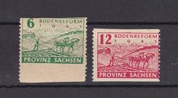 Provinz Sachsen - 1945 - Michel Nr. 85/86 W A C - 15 Euro - Sowjetische Zone (SBZ)
