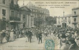34 MONTPELLIER /  Meeting Viticole Du 9 Juin 1907 -  Arrivée De L'Etoile Cycliste De Béziers / - Montpellier
