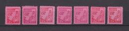 Mecklenburg-Vorpommern - 1945/46 - Michel Nr. 11 Typen - Sowjetische Zone (SBZ)