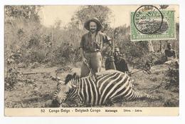 Belgisch Congo Belge Katanga Chasseurs Zebre CPA PK EP - Congo Belge - Autres
