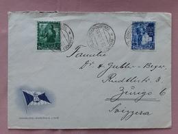 REGNO 1939 - Lettera Spedita Da Napoli Porto In Svizzera + Spese Postali - Storia Postale
