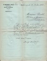 VP15.224 - Lettre - F. BERRY Père Propriétaire à NOLAY Près BEAUNE ( Côte - D'OR ) - France