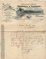 VP15.225 - Lettre - Ancienne Maison J.POULAIN - Transports & Fourrages PH. GUILLET à DIJON - Agriculture