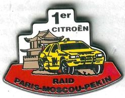 Pin's Voiture Automobile Citroën Course Raid Paris Moscou Pékin - Citroën