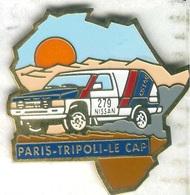 Pin's Voiture Automobile Nissan Rallye Paris Tripoli Le Cap - Rallye