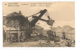 Belgisch Congo Belge Kambove Les Mines Chargement Des Wagons CPA PK EP - Congo Belge - Autres