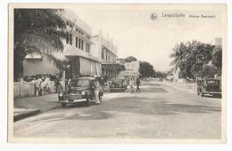 Belgisch Congo Belge Léopoldville Avenue Beernaert Carte Postale Ancienne Animée CPA - Kinshasa - Léopoldville