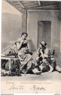 FIRENZE COSTUMI TOSCANI CONTADINO E CONTADINA 1903 TBE - Firenze