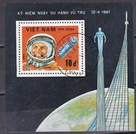 Viet Nam, 1983 - 10d Gagarin, Foglietto - Nr.1281 Usato° - Vietnam