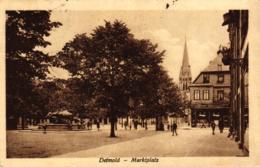 Detmold, Marktplatz, 1925 - Detmold
