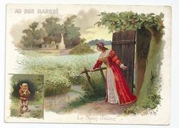 Grand CHROMO AU BON MARCHE Série Le Nain Jaune N° 3 - Au Bon Marché