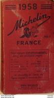 GUIDE ROUGE-MICHELIN-FRANCE-(détails Annexés)-1958 - Landkarten