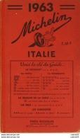 GUIDE ROUGE-MICHELIN-ITALIE-(détails Annexés)-1963 - Carte Geographique