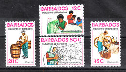 Barbados  - 1978. Sarti, Ferraioli, Bottaio, Fabbro. Garment Industry, Cooper, Wrought Iron Working, Blacksmity. Set MN - Professioni