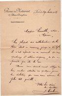 VP15.231 - Lettre - Revue Du Notariat à PARIS Place Dauphine - Printing & Stationeries