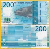 Norway 200 Kroner P-55 2016 (2017) UNC Banknotes - Norvegia