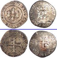 FRANCE - Bretagne - Lot De 2 Blancs Jean IV  (Blanc à L'hexalobe (Nantes) + François Ier - Blanc à La Targe (Nantes)) - 476-1789 Monnaies Seigneuriales