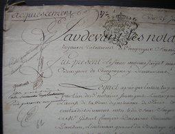 1742 Crespy (Crépy En Valois) Acquiescement Entre Antoine Saiget De Compiègne Et Gabriel Deraisme De Senlis - Manuscripts
