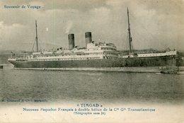 BATEAU PAQUEBOT TIMGAD - Steamers