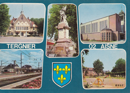 Aisne Tergnier Lot De 8 Cartes - Cartoline