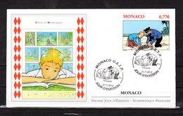 """""""  TINTIN (Le Trésor De Rackham Le Rouge) """" Sur Enveloppe 1er Jour De MONACO De 2012. N° YT 2850. Kuifje FDC - Comics"""