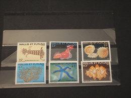 WALLIS FUTUNA - 1979 FAUNA MARINA 6  VALORI - NUOVI(++) - Wallis E Futuna