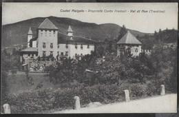 CASTEL MALGALO - VAL DI NON - FORMATO PICCOLO - FOTO ANDRIONE CLES  - VIAGGIATA DA TERRES /TRENTO 01.04.1929 - Châteaux
