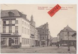 Tienen, Thienen, Tirlemont, Grote Markt En Hoek Peperstraat, Speciale Rode Opdruk In Vermelding, Collectors! - Tienen