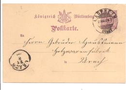 Ganzsache.Postkarte P22. Laufheim - Wuerttemberg
