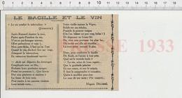 Presse 1933 Poème De Hugues Delorme Le Bacille Et Le Vin Tuberculose évocation Bacille De Koch 226W - Unclassified