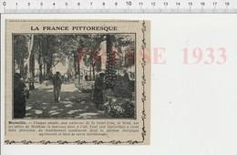 Presse 1933 Marseille Foire à L'ail Allées De Mailhan  226W - Unclassified