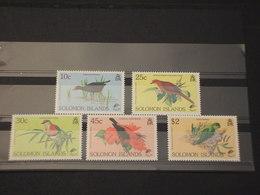 SOLOMON - 1990 UCCELLI 5  VALORI - NUOVI(++) - Isole Salomone (1978-...)