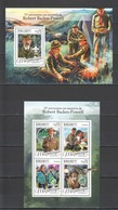 ST2188 2016 MOZAMBIQUE MOCAMBIQUE ORGANIZATIONS SCOUTING ROBERT BADEN POWELL 1KB+1BL MNH - Altri