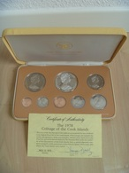 Cook Islands 1978 Coinage Proof Set Minted By The Franklin Mint Some Toning Comes In A Nice Case - Cookinseln