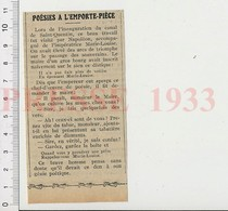 Presse 1933 Humour Inauguration Du Canal De Saint-Quentin Tabac à Priser Empereur Napoléon Impératrice Marie-Louise 226W - Unclassified