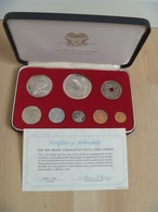 Papua New Guinea 1978 Coinage Proof Ser Minted By The Franklin Mint Some Toning Comes In A Nice Case - Papuasia Nuova Guinea