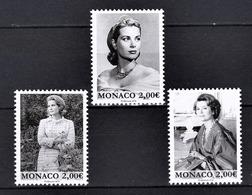 MONACO 2019 / SERIE 3 TP  - 90 ANS DE LA PRINCESSE GRACE DE MONACO - NEUFS  ** - Monaco