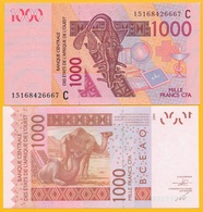 West African States 1000 Francs Burkina Faso (C ) P-315Cl 2015 UNC Banknote - West African States