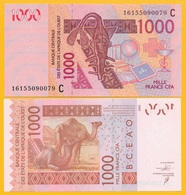 West African States 1000 Francs Burkina Faso (C ) P-315Cm 2016 UNC Banknote - West African States