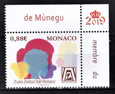MONACO 2019 -25 ANS DU ZONTA CLUB MONACO  - NEUF ** - Monaco