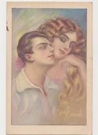 Carte Fantaisie Signée Dell'Anna Gasparini .Milano   / Couple , Femme à La Belle Chevelure - Couples
