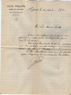 VP15.235 - Lettre - Henri POULAIN Ferme De L'EPINOIS Par VITTEAUX ( Côte - D'Or ) - Agriculture