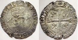 #21_FRANCE MÉDIÉVALE - Charles VIII [1483-1498] - Dizain Ou Karolus - Limoges (2,81 G ; Dup. 593). - 987-1789 Monnaies Royales