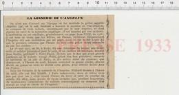 Presse 1933 La Sonnerie De L'Angélus Grosse Cloche Cathédrale Notre-Dame De Paris évocation De Jean Borète  226W - Unclassified