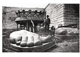 B&W RPPC  Reproduction - Paris 1885 - Construction Statue Liberty - Unused Excellent Condition - 2 Scans - New York City